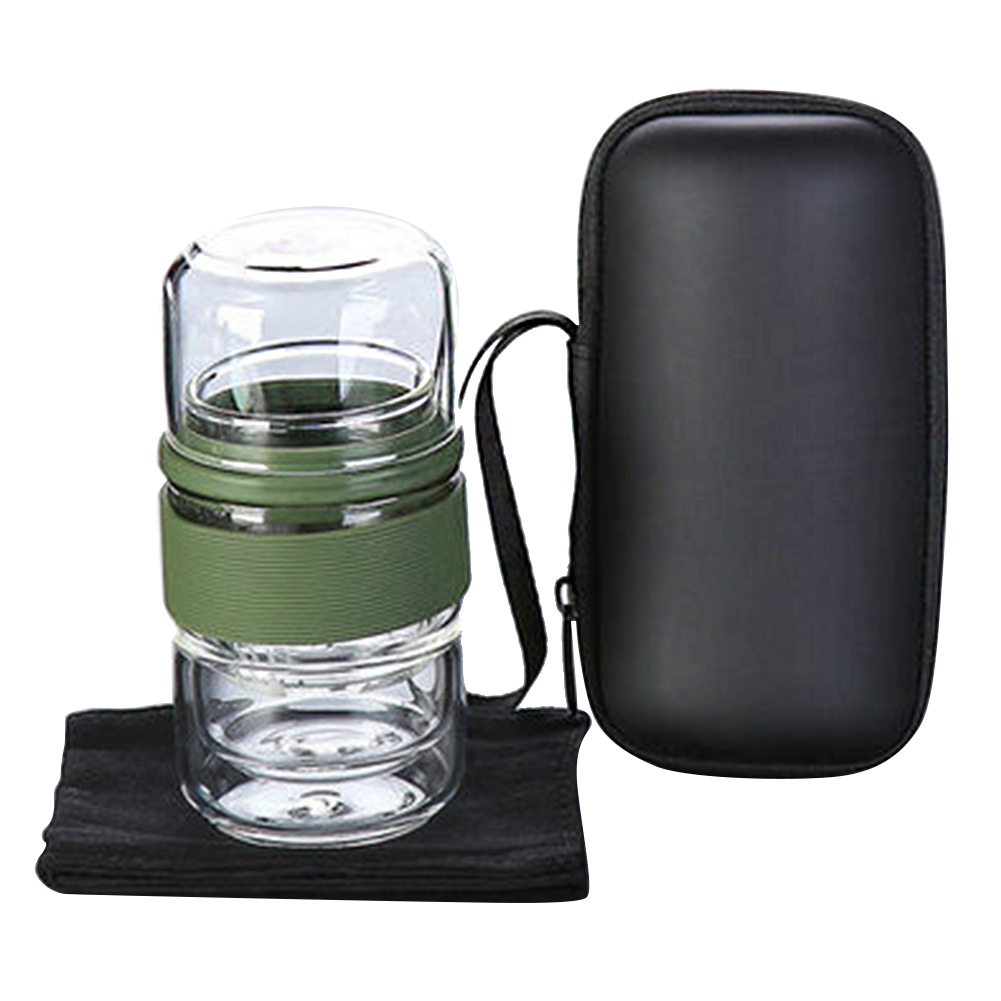 Drinkware Portable Water Travel Tea Set Gift Heat Resistant Office With Storage Bag Pot Home Glass Coffee Kung Fu Insulation