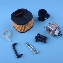 LETAOSK Carburetor HD Air Filter Holder Adaptor Replacement Fit for Husqvarna 365 372 371 362 372XPW 50mm cylinder piston crankcase crankshaft bearing air filter for husqvarna 362 365 371 372 chainsaw oil fuel cap filter gasket