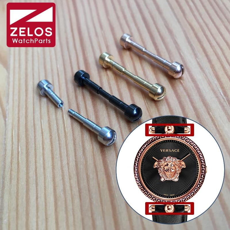 Steel Screwtube For VERSACE  Montre Micro Vanitas Quartz Watch