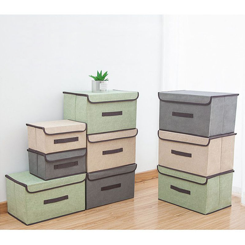 New Storage Boxes With Lids Home Storage Baskets Containers Bins Household Bedroom Organizer Boxes 2019