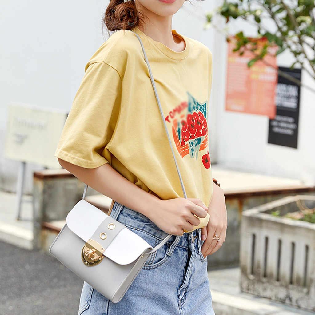 Bloqueio de couro bolsa feminina 2019 couro do plutônio simples selvagem moda retalhos ombro saco do mensageiro saco do telefone móvel sac principal femme