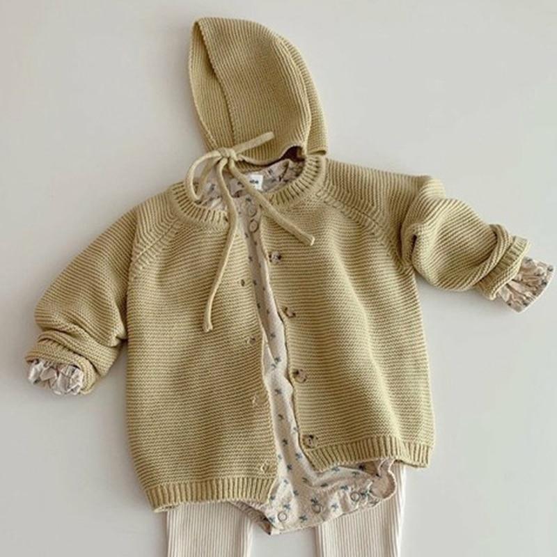 Autumn Kids Knitting Sweaters Newborn Baby Girls Boys Cardigan Baby Girl Sweater Knitting Jacket Coat Toddler Baby Girls Tops 4