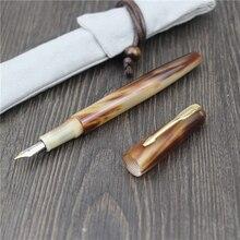 HERO YLJ stylo fontaine exclusif fait à la main, bec fin de 0.5mm en corne naturelle, personnalisation cadeau Unique, Collection daffaires pour le bureau