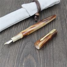 גיבור YLJ בלעדי בעבודת יד עט נובע טבעי שור הורן בסדר ציפורן 0.5mm ייחודי מתנה התאמה אישית משרד עסקים אוסף