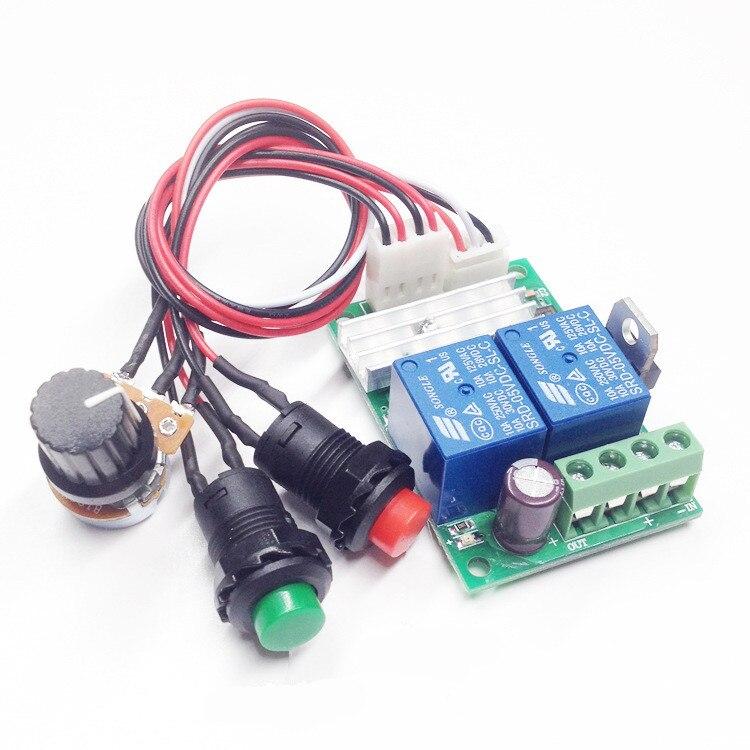 DC 9V 12V 24V 3A Motor Pump Speed Controller PWM Regulator Reversible Switch New