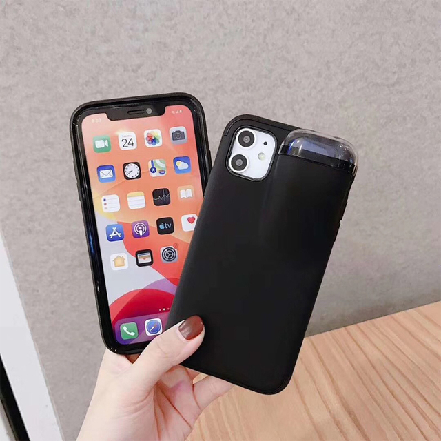 Fashion New design 2in1 phone case For iPhone 11 Pro Max XS Max XR 7 8 6 6S Plus Hard cover with Earphone case For AirPods Case 4