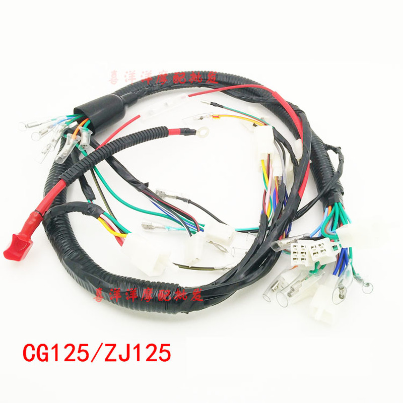 Motorcycles Electric Full Assembly Spare Parts Entire Vehile Cable Wire Line For Honda 125cc CG 125  CG125