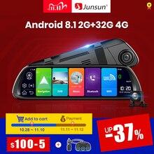"""Junsun A960 Android 8.1 ADAS 2G + 32G 10 """"flux médias tableau de bord caméra voiture caméra enregistreur dvr dashcam GPS navigation 1080P WIFI"""