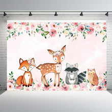 Animal Photo Backdrop Background for Photography Studio Baby Shower Birthday Party Photo Backgrounds for Photo Studio sensfun masha and the bear photography backdrop for photo studio newborn baby shower children birthday party backgrounds