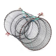 Umbrella-Cage Crayfish Galvanized Crab Fishing-Net Cast-Keep-Net Nylon Catcher-Pot Lobster