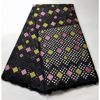 Black Nigerian Lace Fabric High Quality Lace Beaded Lace Fabric Wedding African With Beads 5yards Nigerian French Lace Fabric