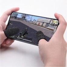 1 par móvel finger stall sensível controlador de jogo sweatproof respirável dedo berços acessórios para iphone adnroid