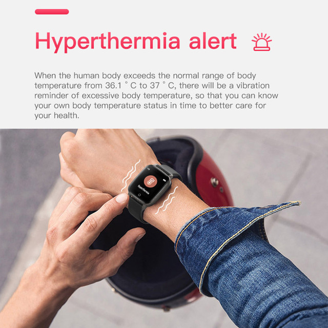T1 Body Temperature Measure Smart Watches Men Women Heart Rate Blood Pressure Monitor Push Message Weather Forecast Smartwatch 3