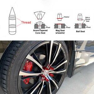 Image 5 - RASTP VOLKS Stralen Racing Composiet Moer Anti Diefstal Staal Hoofd Aluminium Slot Wiel Lug Moer Bout Met Spikes RS LN038