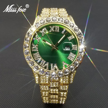 MISSFOX Hip Hop Watch For Men Luxury Diamond Quartz Mens Wristwatch Iced Out Watches Dropshipping 2021 Best Selling Products