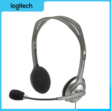 Original Logitech H110/H111 Wired Headphones Headsets Stereo Headset with Microphone 3.5mm Gaming Music Calling Chat Affordable гарнитура logitech stereo headset h110 981 000271