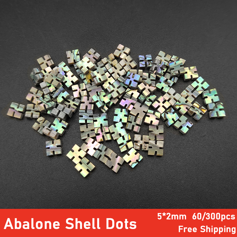 60/300pcs Square 5*2mm Acoustic Ukulele Guitars Fingerboard Inlay Dot Abalone Shell Fretboard Dot Inlay For Guitar Neck