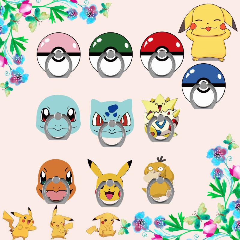 New Anime Pokemon Go Pikachu Cosplay Props Poke Ball Kawaii Squirtle Bulbasaur Pet Mobile Phone Support Holder Stand Adjustable