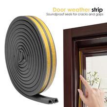 2 шт. самоклеющиеся уплотнительные прокладки D типа для дверей и окон, звуконепроницаемые, против столкновений, рамка, боковое уплотнение, крытые стопоры