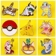 Japanese Anime Enamel Pin Pattern Metal Badges Pins and Brooches for Children Lapel pin Creative Gift backpack bag jacket badge quality metal enamel badge and souvenir logo custom lapel pin name car army flag tin emblem police military metal button soft