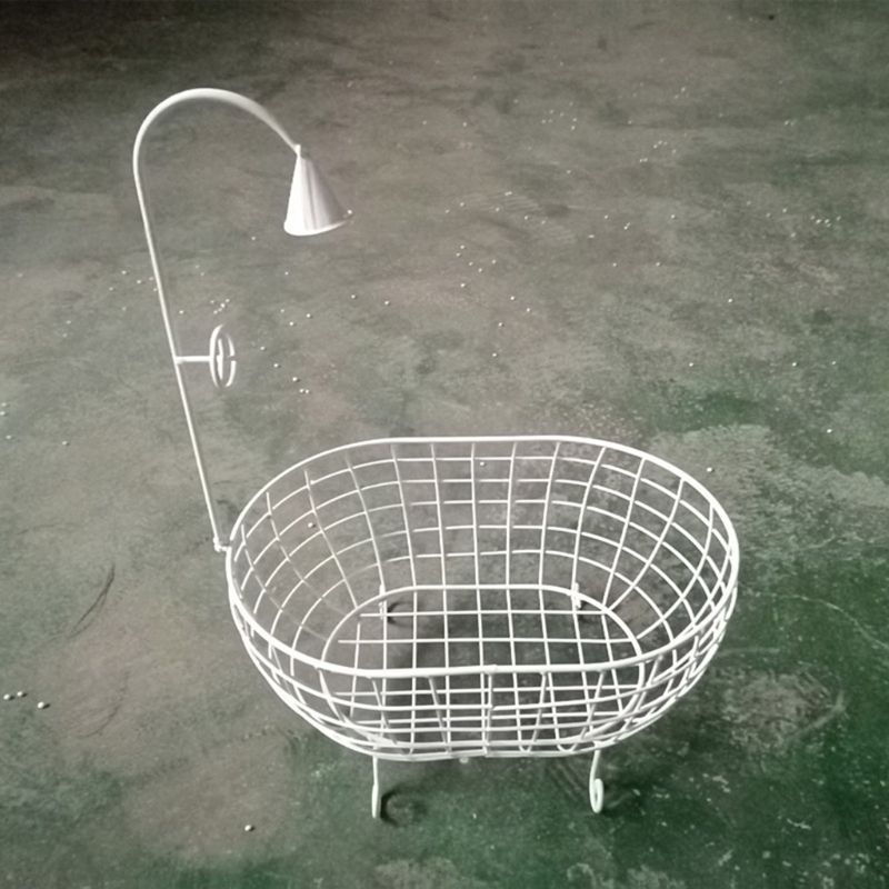 Newborn Iron Basket Shower Bathtub Novelty Posing Sofa Baby Photography Props Accessories
