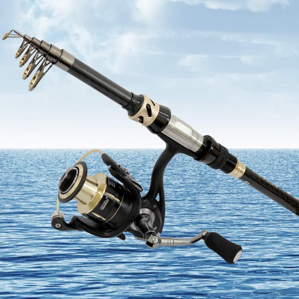 Vara de pesca telescópica combinação portátil fiação