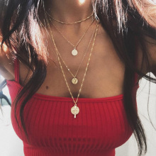 Cross Aesthetic Girl Multilayer Necklace Chain Women Rose Gold Color Bohemia Necklaces Jewelry Lovers Kpop Collares xpayxpay choker trendy necklace chain women yellow gold color bohemia stainless steel necklaces jewelry lovers collares