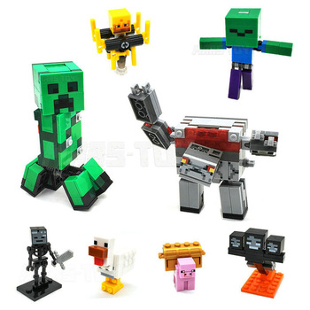 цена на HOT Redstone Steve Dragon Slayer Building Block Action Figures Compatible MinecraftINGlys My World Bricks Set For Gift Toys