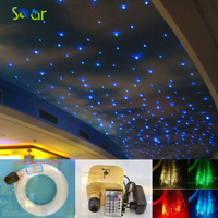 Dimmable 16W RGBW Twinkle LED Fiber Optic Star Ceiling Lights Kit LED Light Starry Sky Fiber Optic Ceilling Color Sauna Bedroom