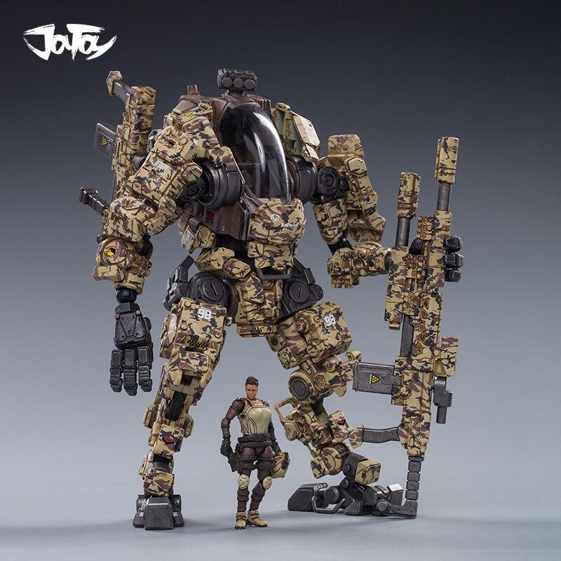 2020 NEW JOYTOY 1/25 Action Figure Robot Military Steel Bone H03 Desert Camouflage Cam Mecha Collection Model Toys  Present Gift