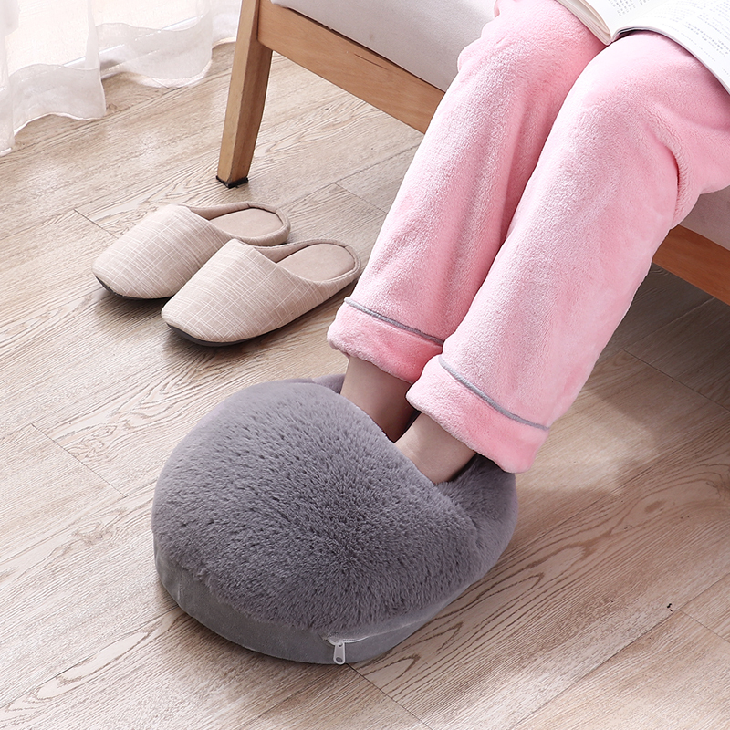 Electric Heating Foot Warmer Pad 3 Colors Detachable Washable USB Ports Heated Slippers For Home Office Gifts Warming Products