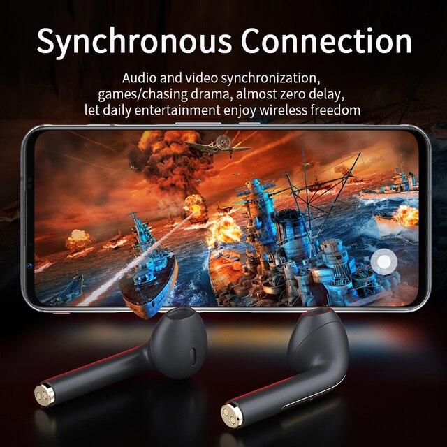 Essager J18 Pro Wireless Headphones With Microphone Stereo TWS Bluetooth 5.0 Earphones Ear buds Handfree Sport Headset EarBuds 4