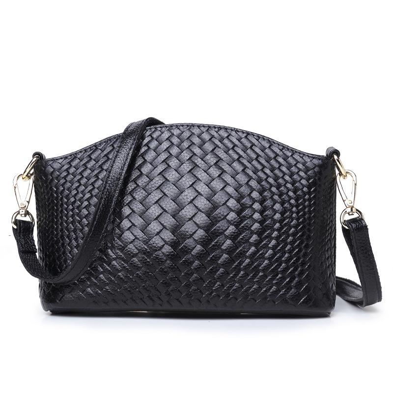 Genuine Leather Weave Style Handbag