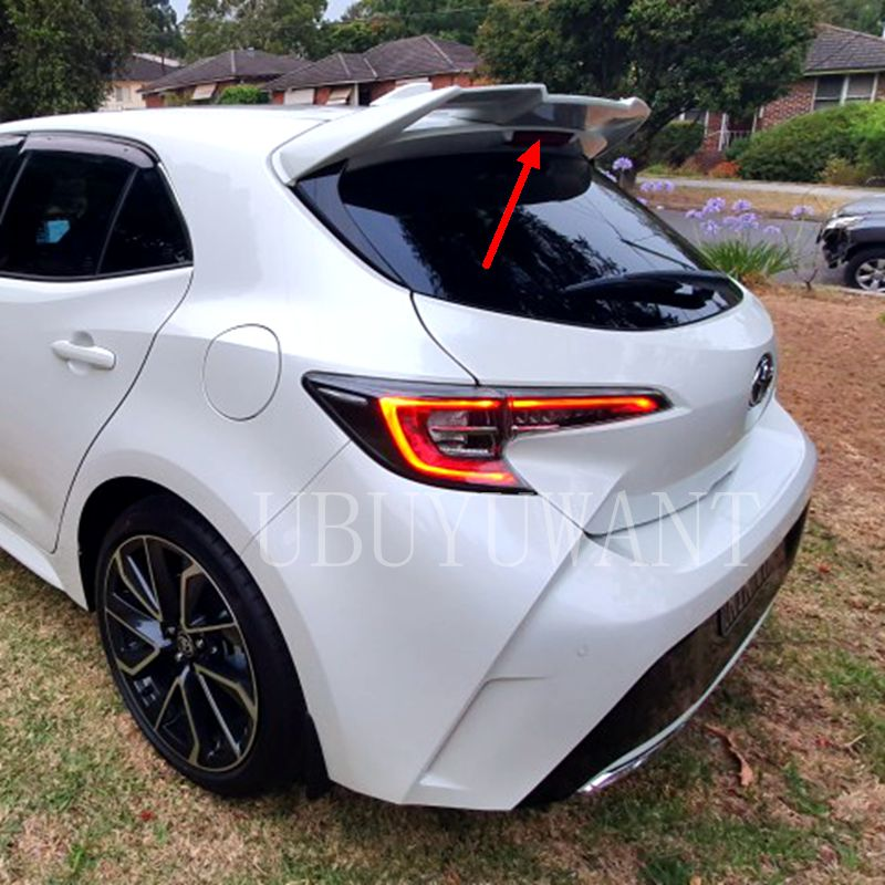 UBUYUWANT Painted Deflector <font><b>Spoiler</b></font> Tail Rear Wings Primer Color Rear <font><b>Spoiler</b></font> for <font><b>Toyota</b></font> <font><b>Corolla</b></font> Hatchback <font><b>Spoiler</b></font> <font><b>2019</b></font> image