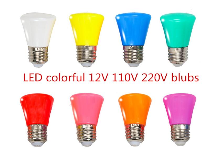 LED Blubs Crown Colorful 3W E27 B22 12V 110V 220V Indoors Red Blue Green Pink Light Bulb Lamp For Home Lighting Christmas