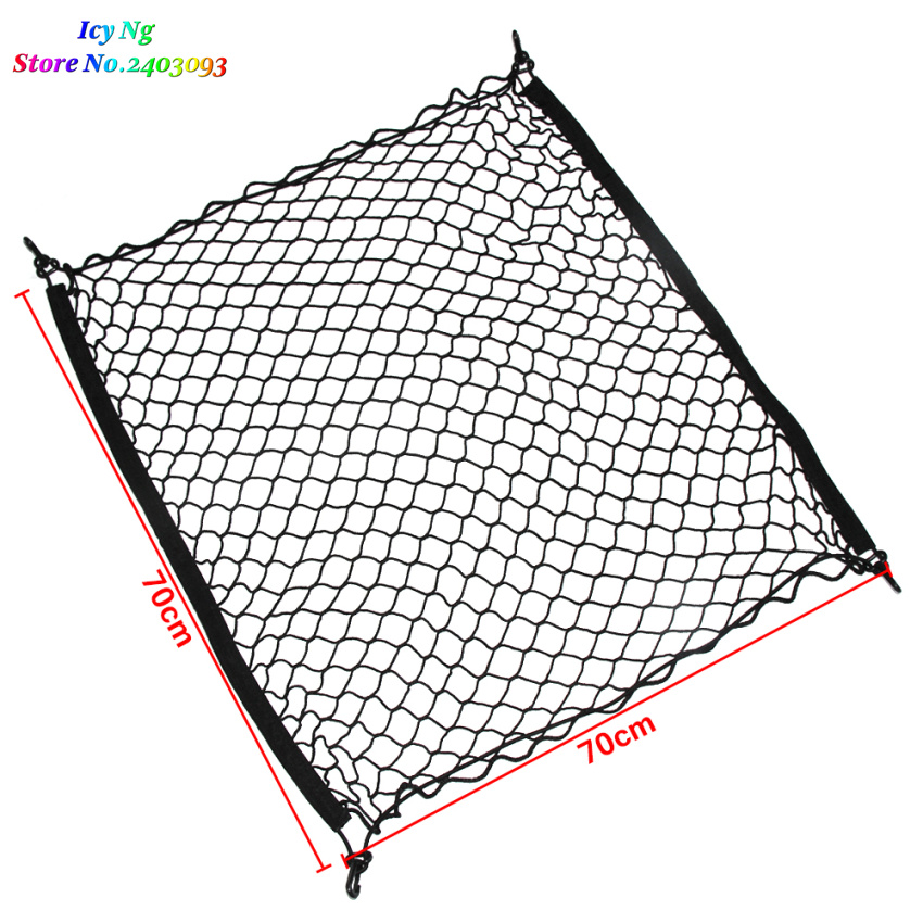 Image 4 - Car Trunk Cargo Mesh Net 4 HooCar Luggage For Subaru Forester Outback Lmpreza Legacy Tribeca XV BRZ-in Car Stickers from Automobiles & Motorcycles