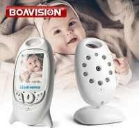 VB601 2.4Ghz wideo dla dzieci monitory bezprzewodowy 2.0 Cal ekran LCD 2 Way dyskusja na podczerwień temperatury w nocy kamera ochrony 8 kołysanek