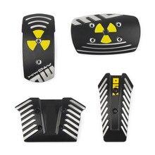 Nuovo 2 pz 1 Set nuovo stile nero pedali da corsa per auto pedale del freno automatico universale pedale antiscivolo pedali da corsa sportivi neri