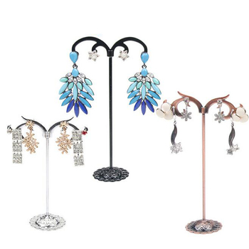 White/Brown/Black/Silver Colors 3 pcs/Lot Jewelry Display Metal Earring Holder Display Crystal Jewelry Earring Display Stand