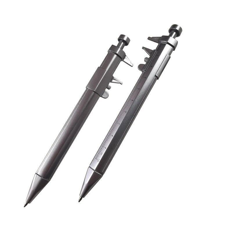 50 pièces Vernier etrier stylo à bille multifonction 0.5mm Gel encre stylo Vernier etrier rouleau stylo à bille papeterie bille-Point