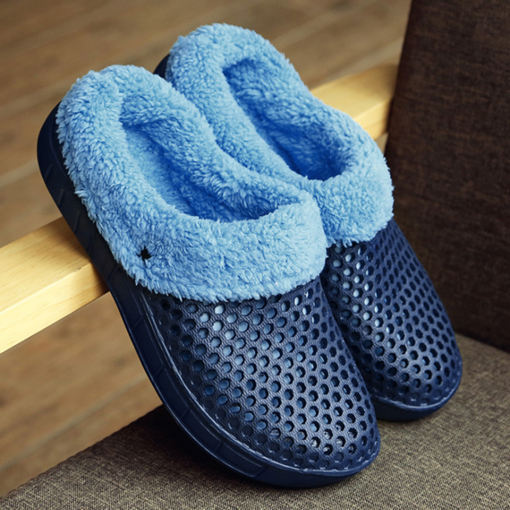 Winter Slippers Men Plush Warm Shoes Men Slippers Light Comfortable Nest Indoor Fur Home Slippers Unisex Couple Slippers Female