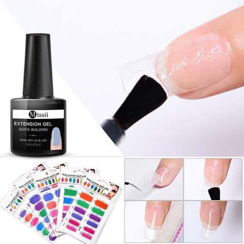 Colorful Fiberglass Nail Extension Silks Set Quick Building Gel Set Tip Nail Wraps Form Extension DIY Nail Art Tool Kit Islamabad