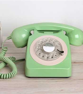Corded Telepon Antik untuk Tua Vintage Retro Rotary Putar Home Telepon Peralatan Populer Eropa Telepon