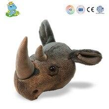 2020 CREATIVE חיות יער פראי לילדים חדר חדש עיצוב קיר קישוט בעלי החיים ראש קרנף בפלאש צעצועים ממולאים