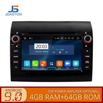 JDASTON Android 9.0 Car DVD Player For Fiat Ducato CITROEN Jumper PEUGEOT Boxer Multimedia GPS Stereo 1 Din Car Radio 4G+64G CD