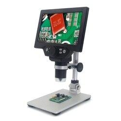 Mustool G1200 2019 najnowszy mikroskop cyfrowy 12MP 7 Cal wyświetlacz LCD HD 1-1200X ciągłe wzmocnienie obrotowy lupa
