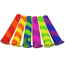 6PCS Reusable Molds Silicone Popsicle Maker Molds for Kids Multi-Colored DIY Freeze Popsicle Maker with Lid