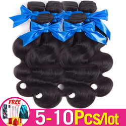 5-10 Pieces Body Wave Human Hair Weave 8-36 Inch Brazilian Hair Weave Bundles Deal Remy Hair Extensions Jarin For Black Women