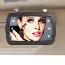 Universal LED Auto Innen Spiegel Touch Schalter Make-Up Spiegel Sonnenblende Hohe Klare Innen HD Spiegel 170 * 110mm-no batterie