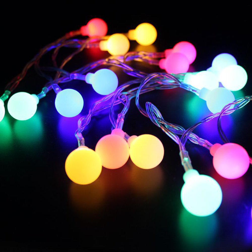 LED String Lights Fairy Lights 1.5m 3m 6m 10m Globe Bulb Battery-powered Lighting For Party Garden Decoration Waterproof